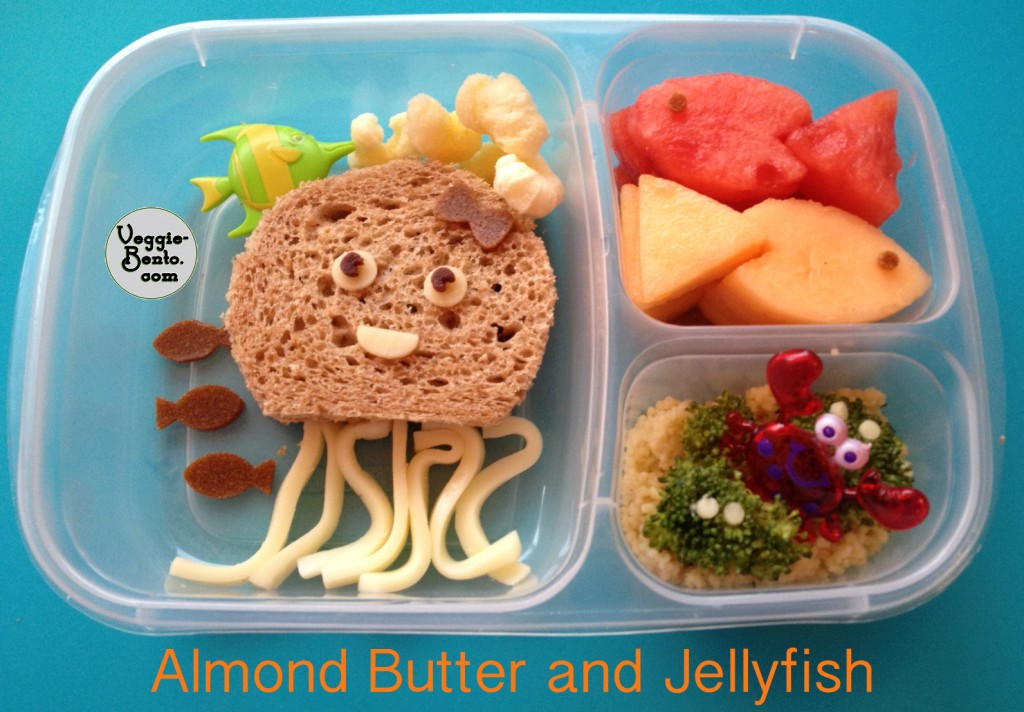 Almond Butter and Jellyfish Lunch
